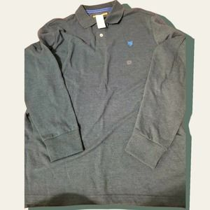 Prince & Fox Forest Green Long Sleeve Polo Top, Size L